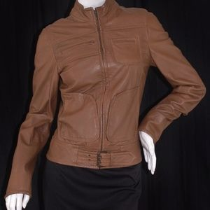 For JOSEPH India Luxury Brown Leather  Jacket XS